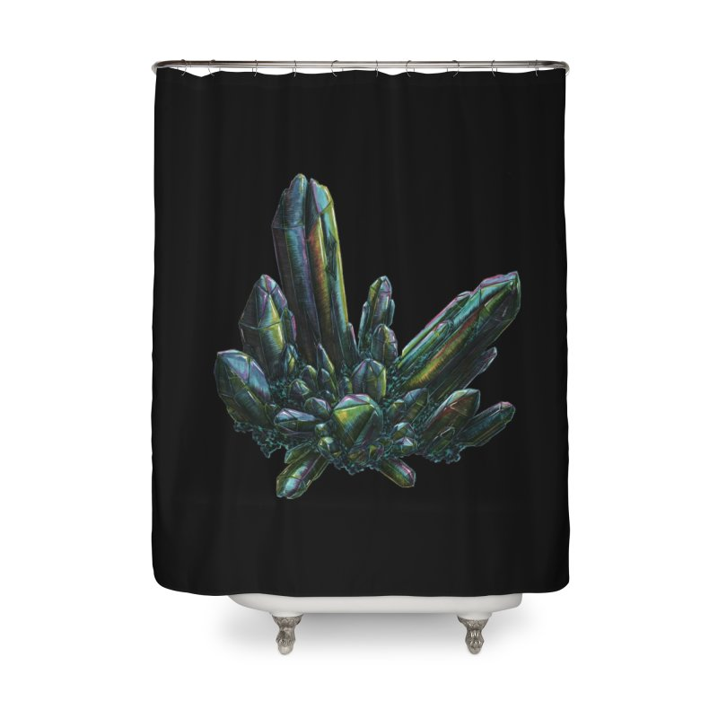 Aqua Aura Quartz Home Shower Curtain by Natalie McKean