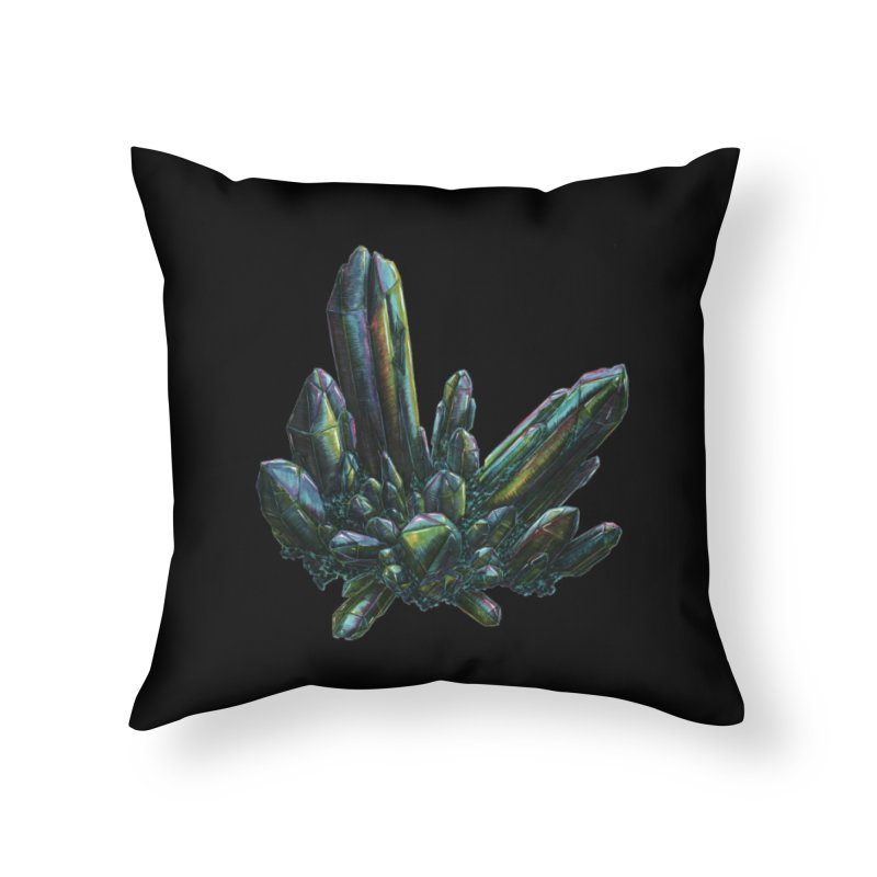 Aqua Aura Quartz Home Throw Pillow by Natalie McKean