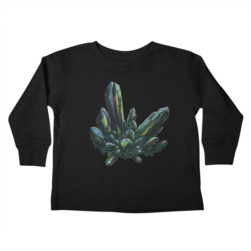 Aqua Aura Quartz Kids Toddler Longsleeve T-Shirt by Natalie McKean