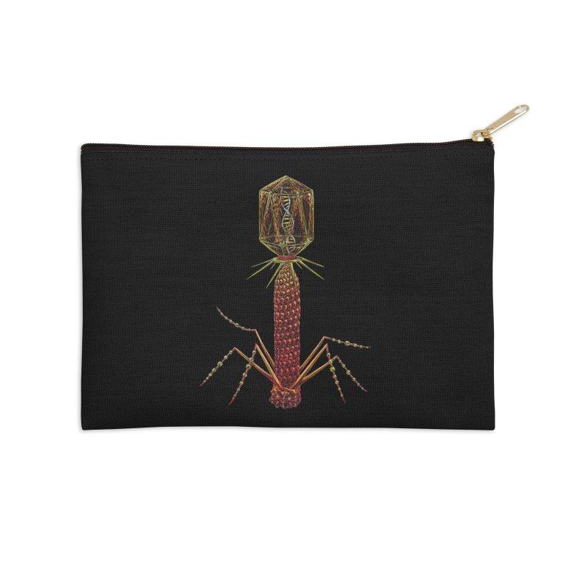 Bacteriophage Virus Accessories Zip Pouch by Natalie McKean