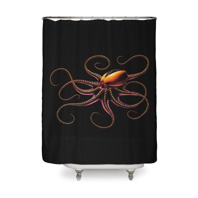 Roboctopus Home Shower Curtain by Natalie McKean