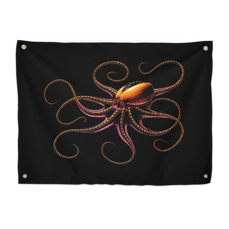 Roboctopus Home Tapestry by Natalie McKean
