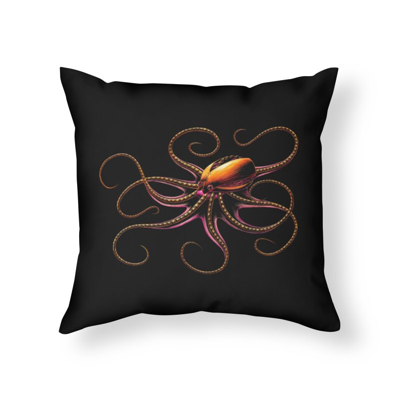 Roboctopus Home Throw Pillow by Natalie McKean