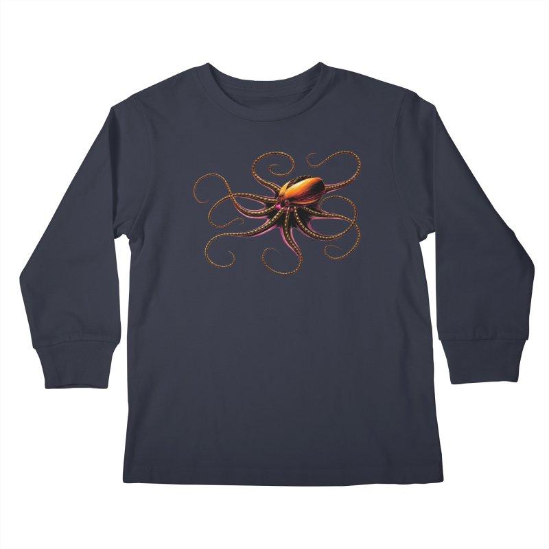 Roboctopus Kids Longsleeve T-Shirt by Natalie McKean