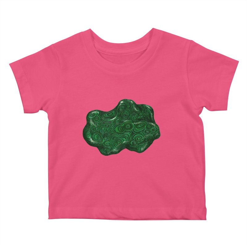 Malachite Kids Baby T-Shirt by Natalie McKean