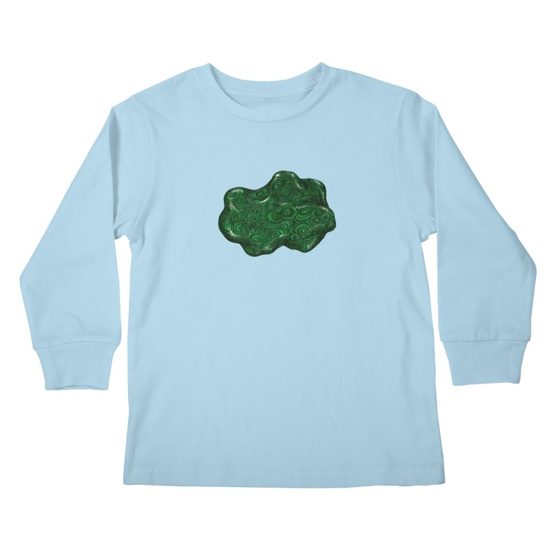 Malachite Kids Longsleeve T-Shirt by Natalie McKean