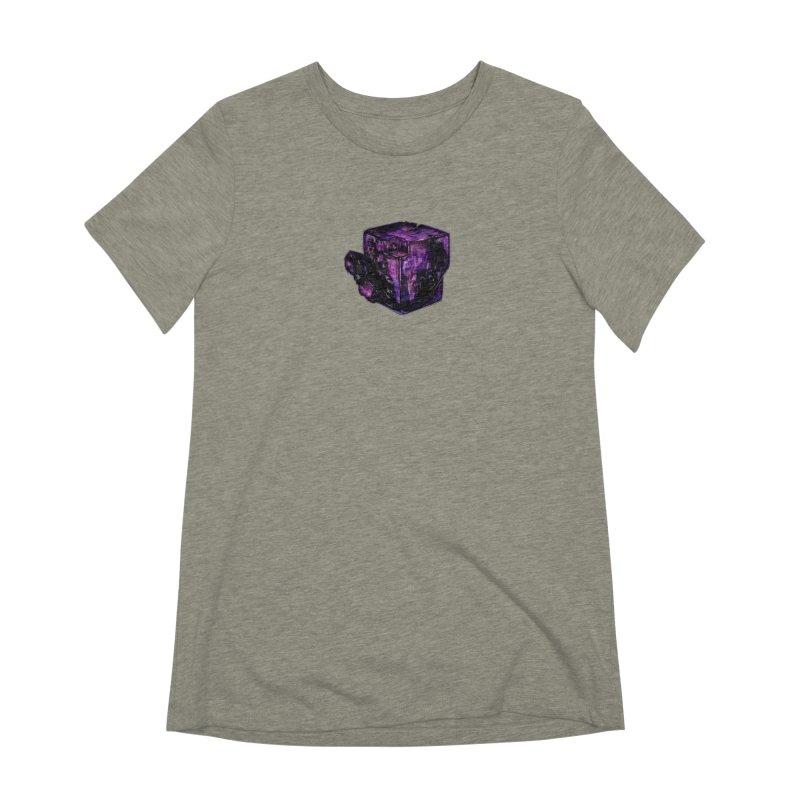 Purple Flourite Women's Extra Soft T-Shirt by Natalie McKean