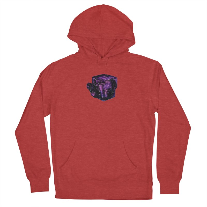 Purple Flourite Women's French Terry Pullover Hoody by Natalie McKean