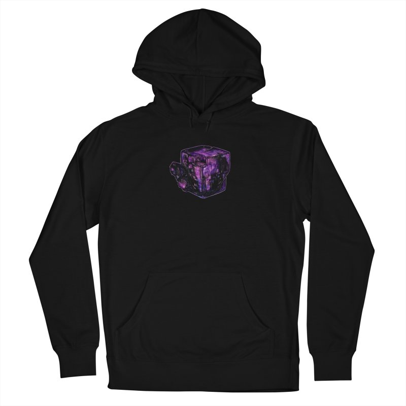 Purple Flourite Men's French Terry Pullover Hoody by Natalie McKean