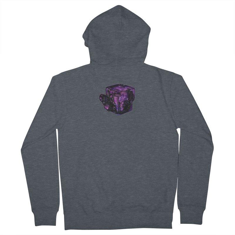 Purple Flourite Men's French Terry Zip-Up Hoody by Natalie McKean