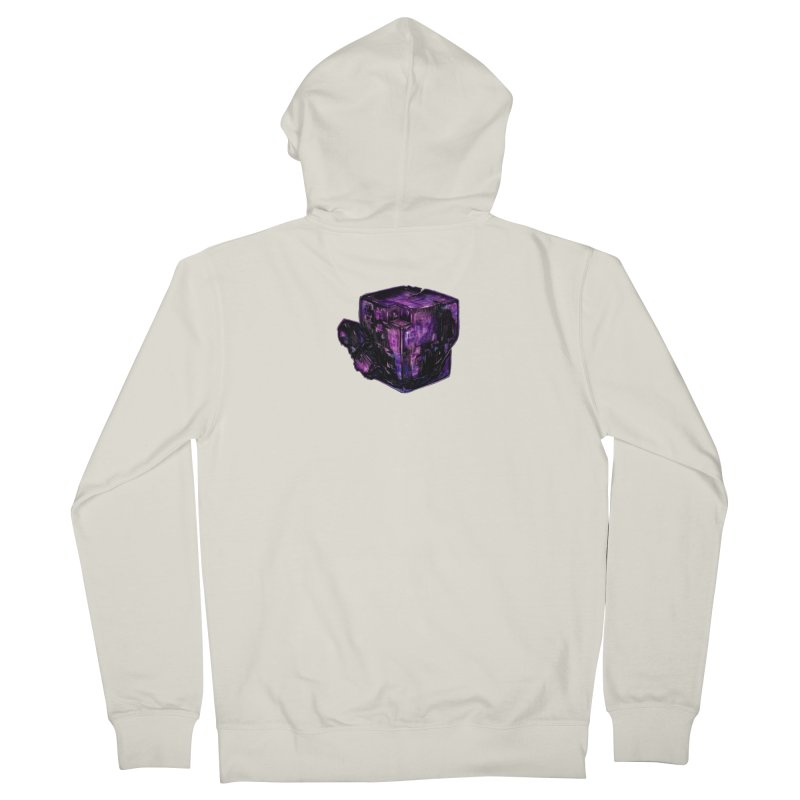 Purple Flourite Men's French Terry Zip-Up Hoody by Natalie McKean