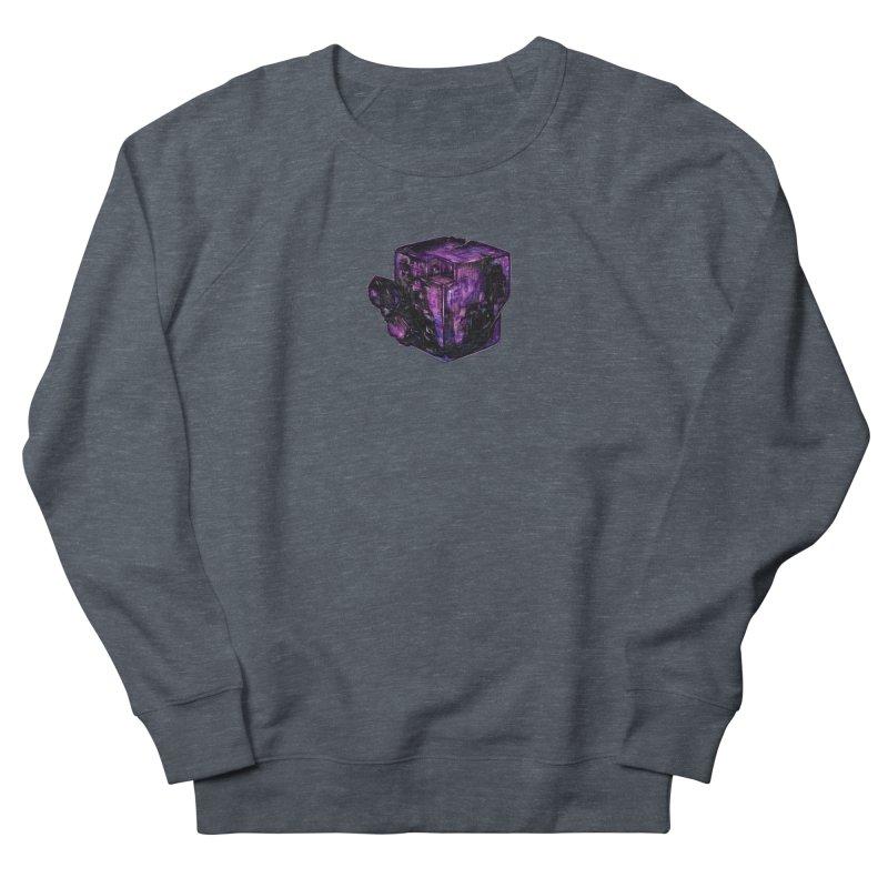 Purple Flourite Men's French Terry Sweatshirt by Natalie McKean