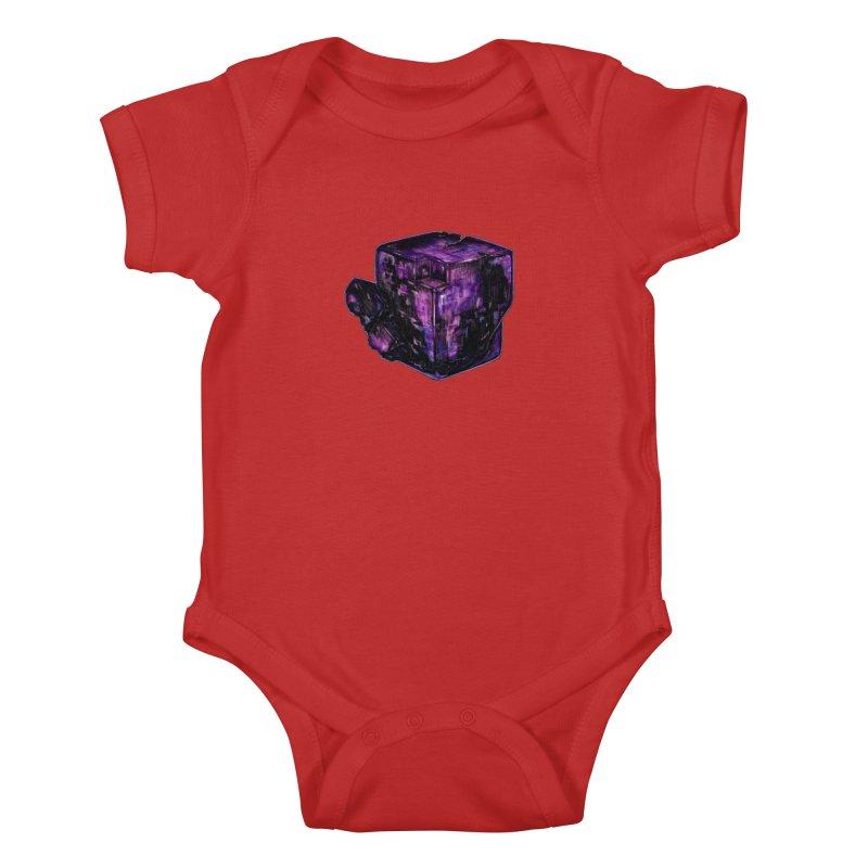 Purple Flourite Kids Baby Bodysuit by Natalie McKean