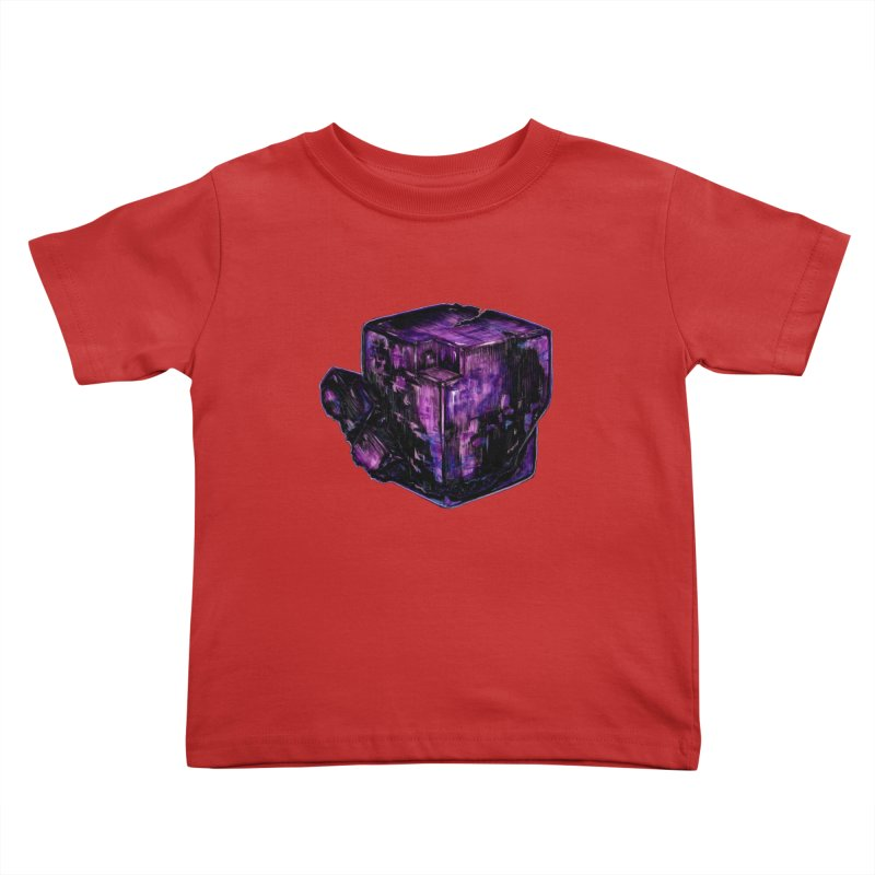 Purple Flourite Kids Toddler T-Shirt by Natalie McKean
