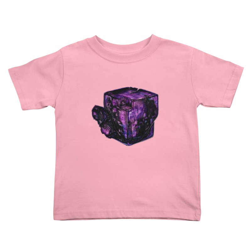 Purple Flourite Kids Toddler T-Shirt by Natalie McKean