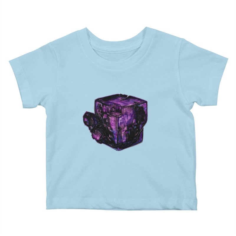 Purple Flourite Kids Baby T-Shirt by Natalie McKean