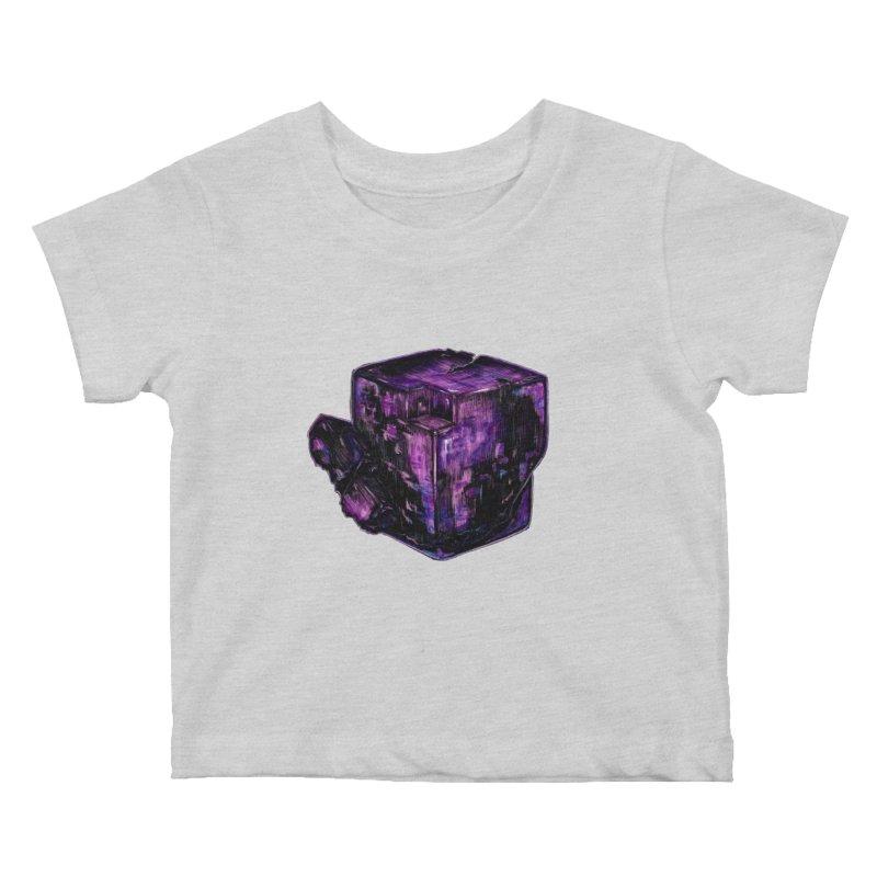 Purple Flourite Kids Baby T-Shirt by Natalie McKean