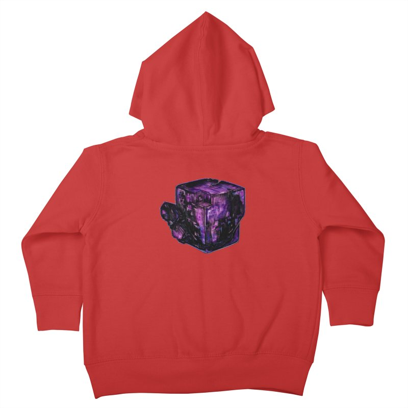 Purple Flourite Kids Toddler Zip-Up Hoody by Natalie McKean
