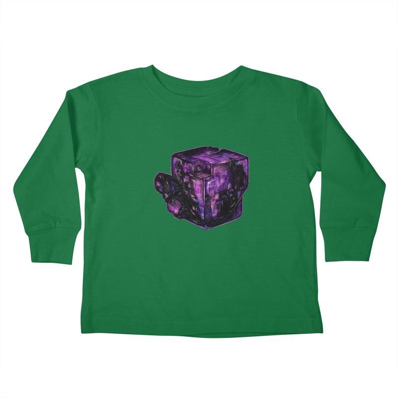 Purple Flourite Kids Toddler Longsleeve T-Shirt by Natalie McKean