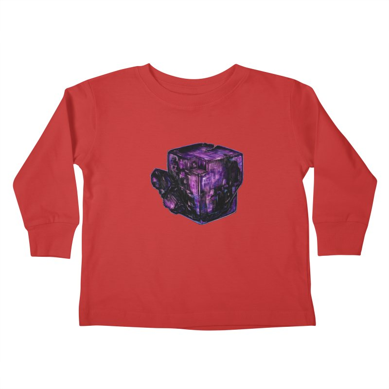 Purple Flourite Kids Toddler Longsleeve T-Shirt by Natalie McKean
