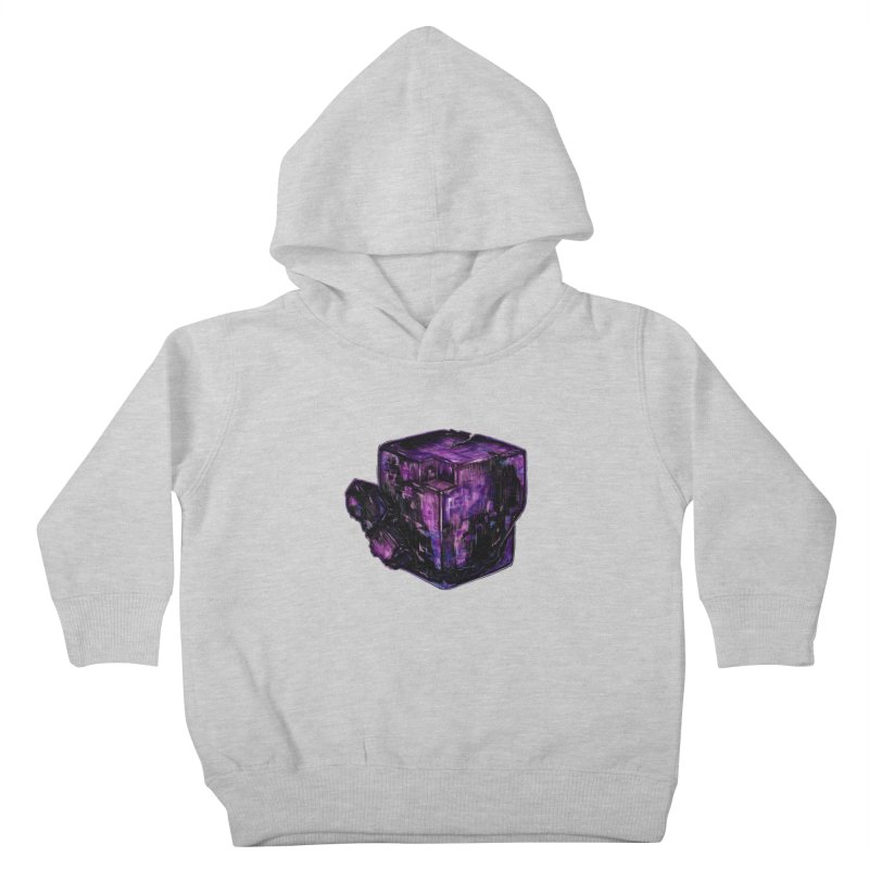 Purple Flourite Kids Toddler Pullover Hoody by Natalie McKean