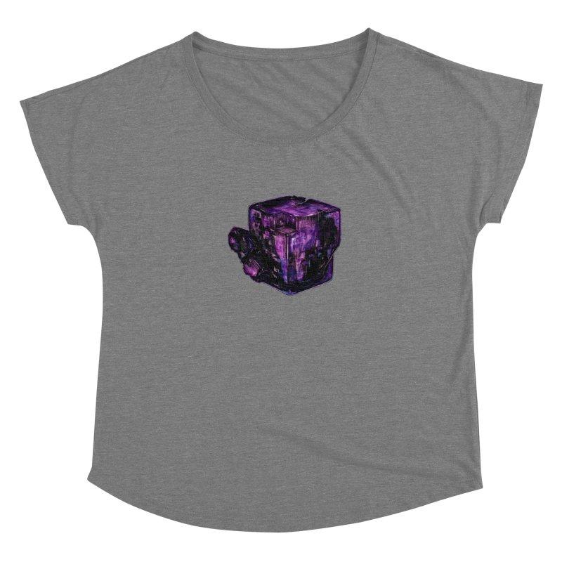 Purple Flourite Women's Scoop Neck by Natalie McKean