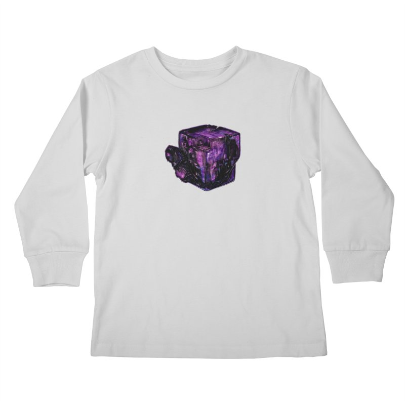 Purple Flourite Kids Longsleeve T-Shirt by Natalie McKean
