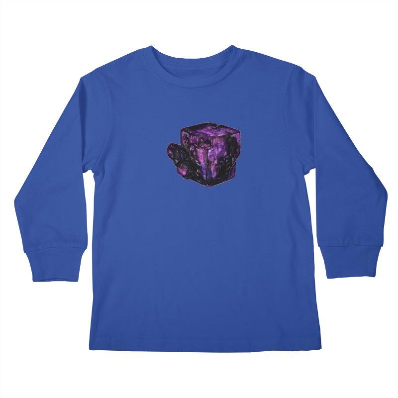 Purple Flourite Kids Longsleeve T-Shirt by Natalie McKean