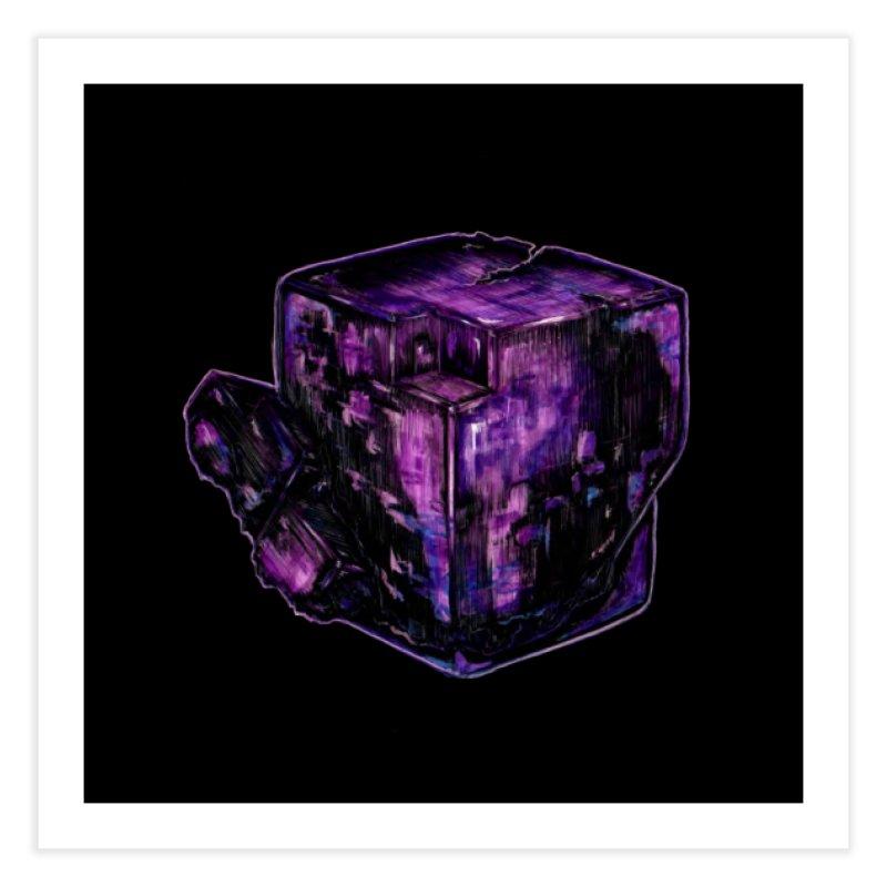 Purple Flourite Home Fine Art Print by Natalie McKean