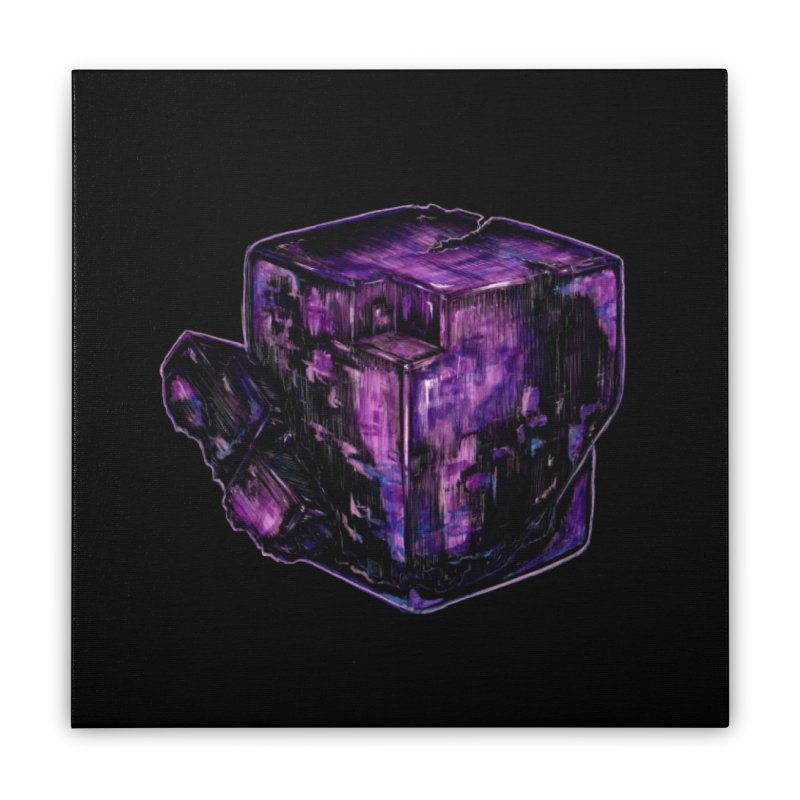 Purple Flourite Home Stretched Canvas by Natalie McKean