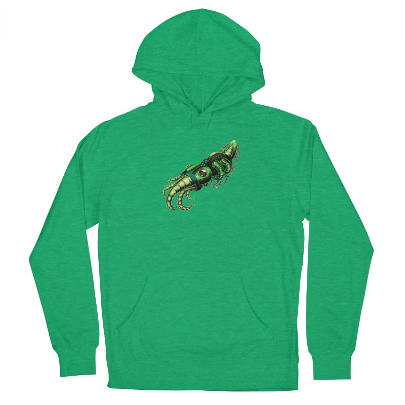 Robot Cuttlefish Men's French Terry Pullover Hoody by Natalie McKean