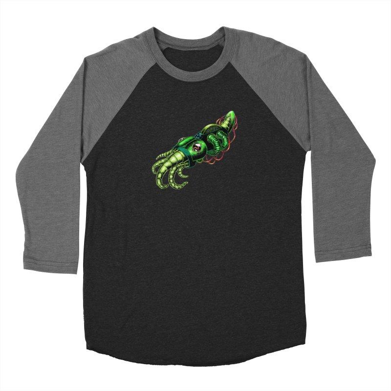 Robot Cuttlefish Women's Baseball Triblend Longsleeve T-Shirt by Natalie McKean