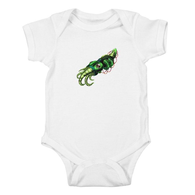 Robot Cuttlefish Kids Baby Bodysuit by Natalie McKean