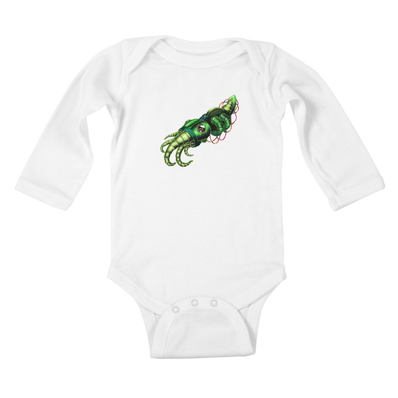 Robot Cuttlefish Kids Baby Longsleeve Bodysuit by Natalie McKean