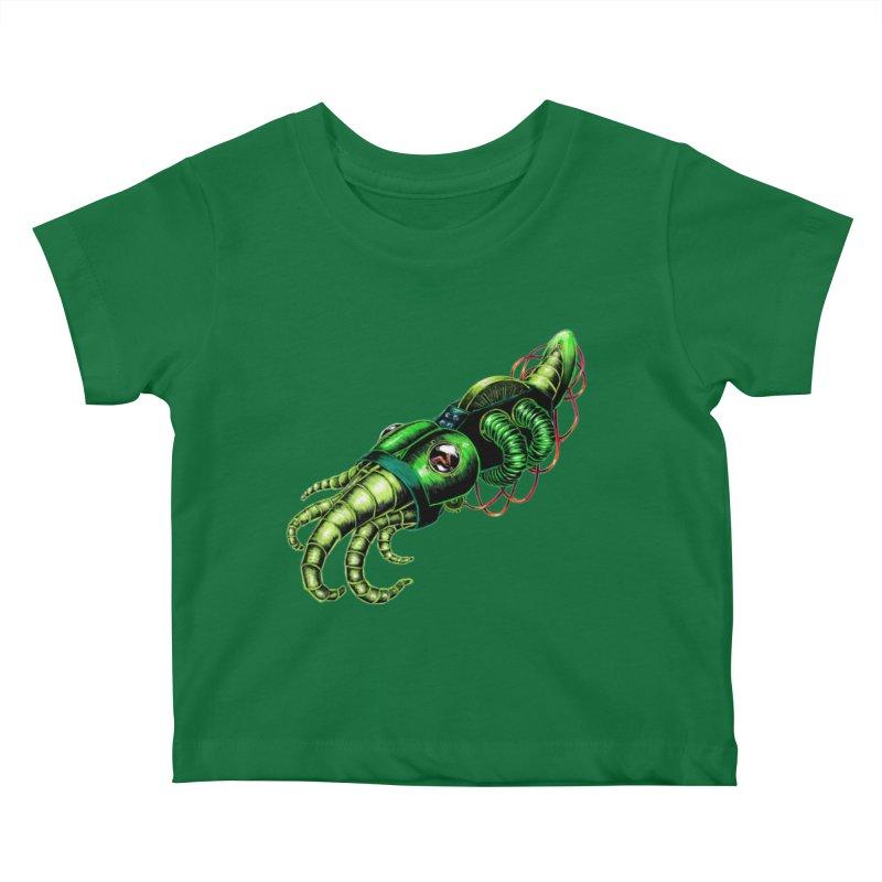 Robot Cuttlefish Kids Baby T-Shirt by Natalie McKean