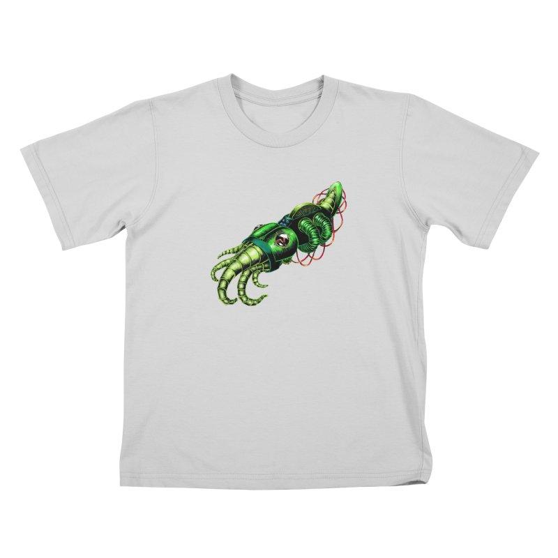 Robot Cuttlefish Kids T-Shirt by Natalie McKean