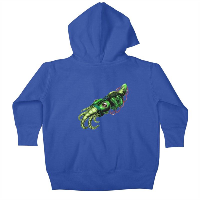 Robot Cuttlefish Kids Baby Zip-Up Hoody by Natalie McKean