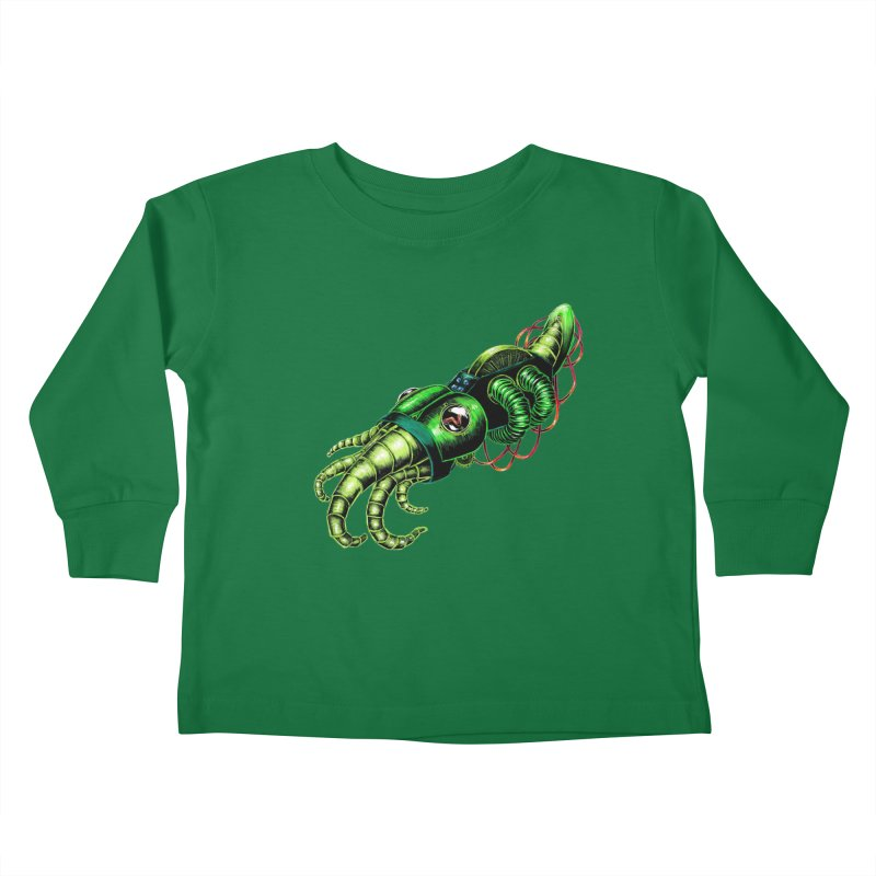 Robot Cuttlefish Kids Toddler Longsleeve T-Shirt by Natalie McKean