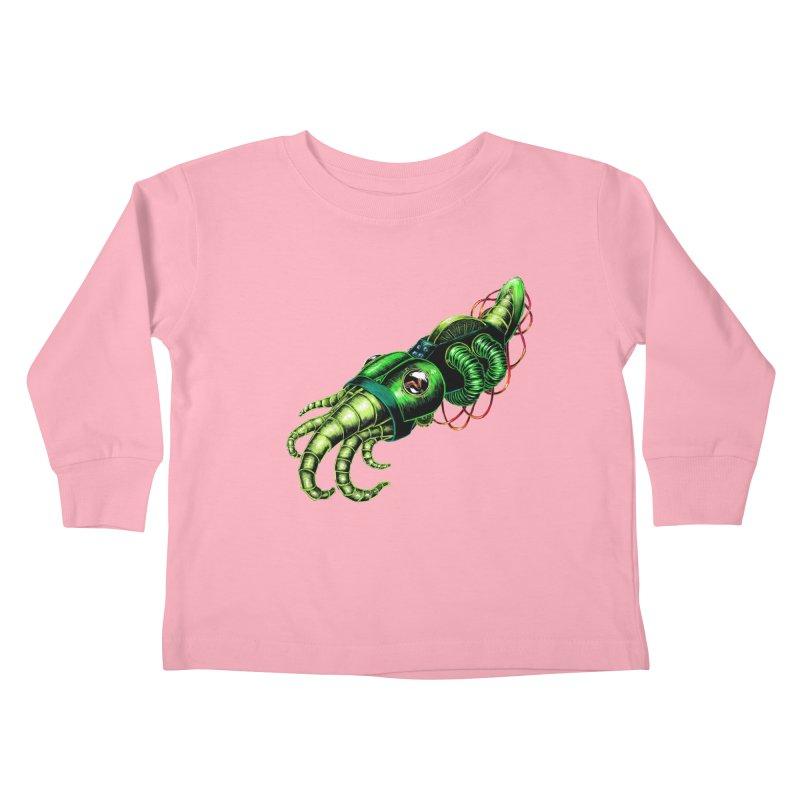 Robot Cuttlefish Kids Toddler Longsleeve T-Shirt by Natalie McKean