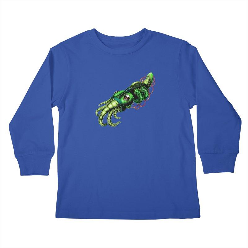 Robot Cuttlefish Kids Longsleeve T-Shirt by Natalie McKean