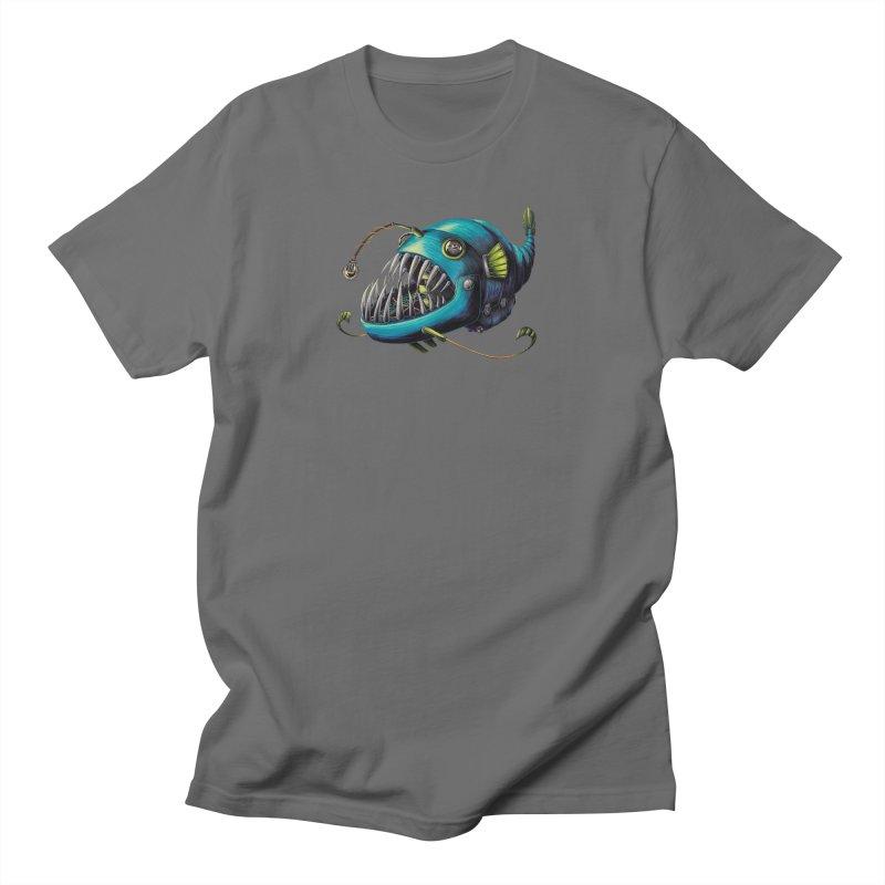 Anglerfish Men's T-Shirt by Natalie McKean