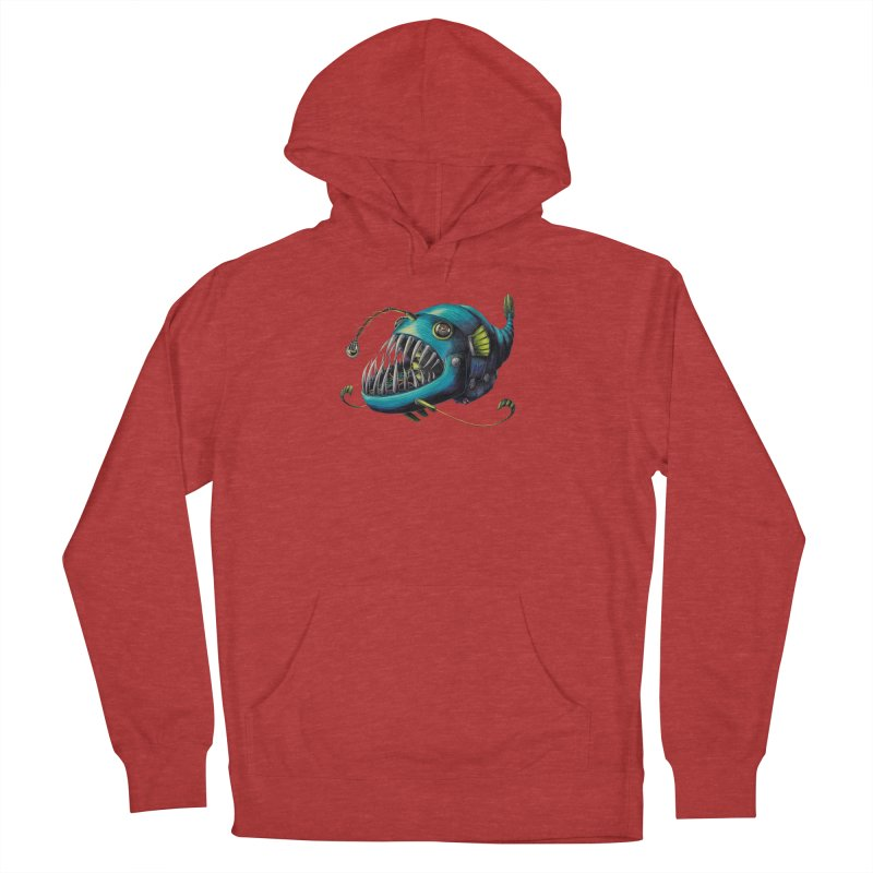 Anglerfish Women's French Terry Pullover Hoody by Natalie McKean