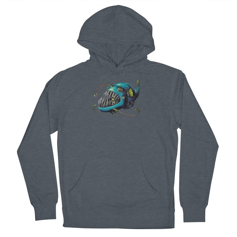 Anglerfish Men's French Terry Pullover Hoody by Natalie McKean