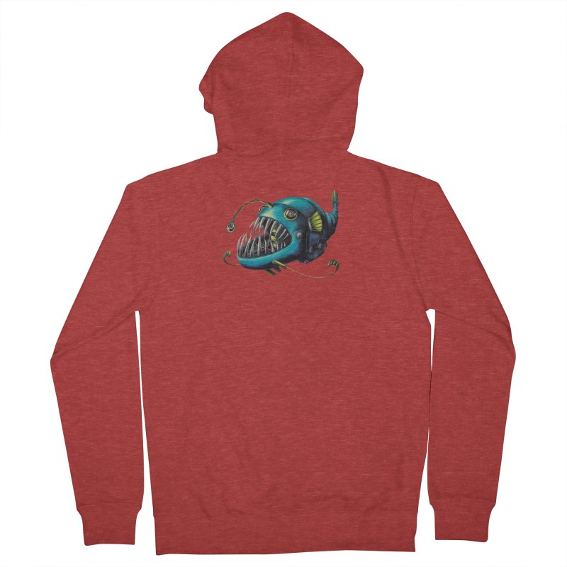 Anglerfish Women's French Terry Zip-Up Hoody by Natalie McKean