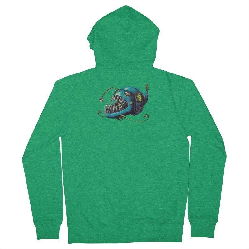 Anglerfish Men's Zip-Up Hoody by Natalie McKean