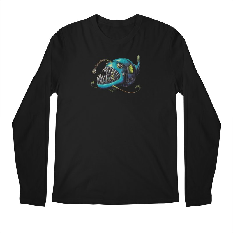 Anglerfish Men's Regular Longsleeve T-Shirt by Natalie McKean