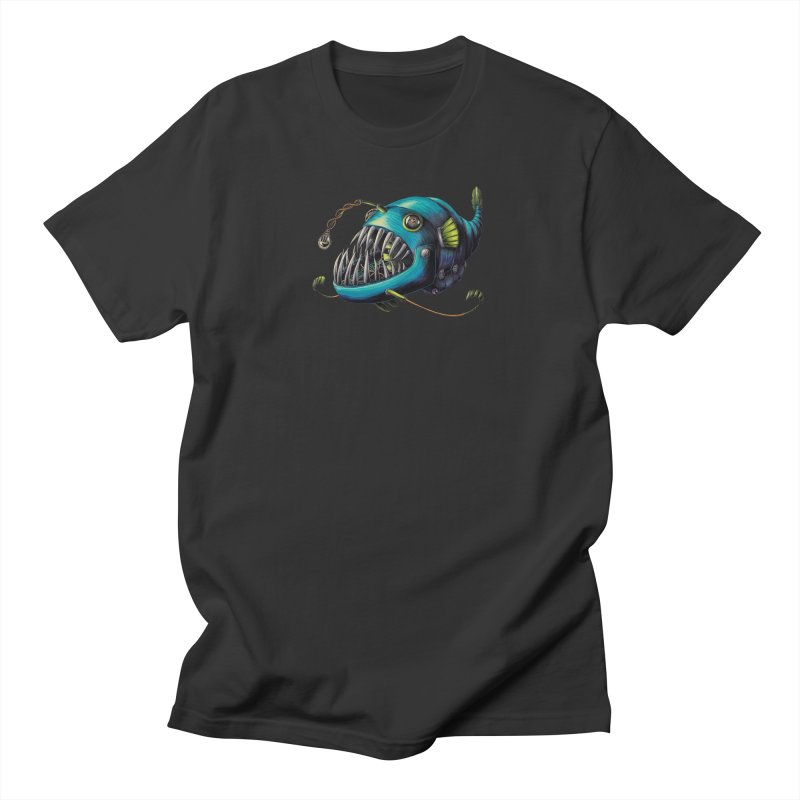 Anglerfish Men's Regular T-Shirt by Natalie McKean
