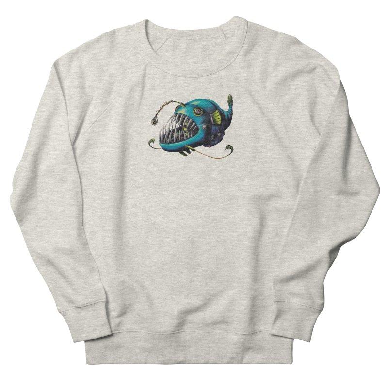 Anglerfish Women's French Terry Sweatshirt by Natalie McKean
