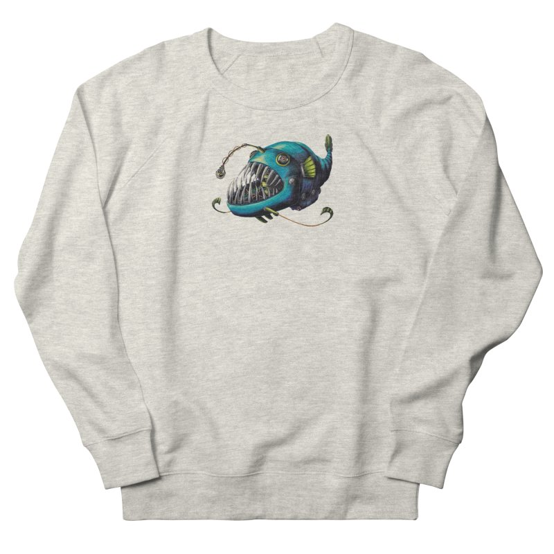 Anglerfish Men's French Terry Sweatshirt by Natalie McKean