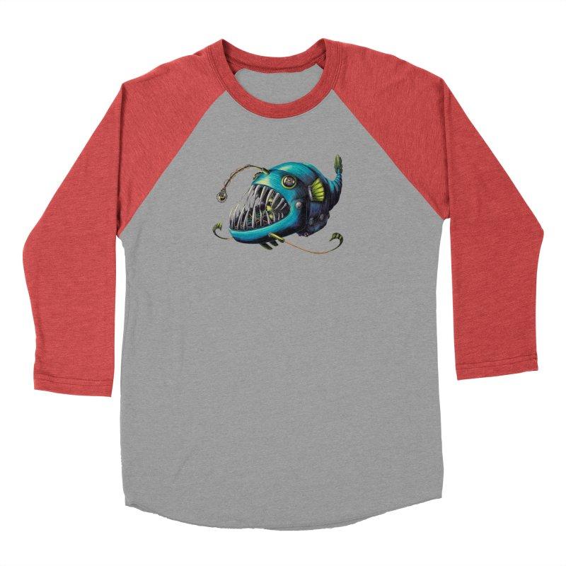 Anglerfish Women's Baseball Triblend Longsleeve T-Shirt by Natalie McKean